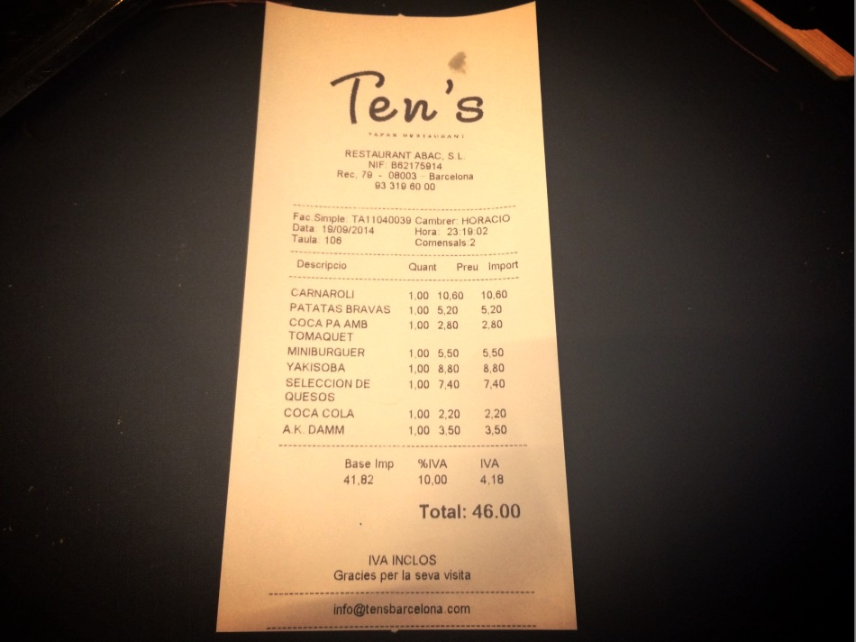 Ten's Restaurant de Jordi Cruz