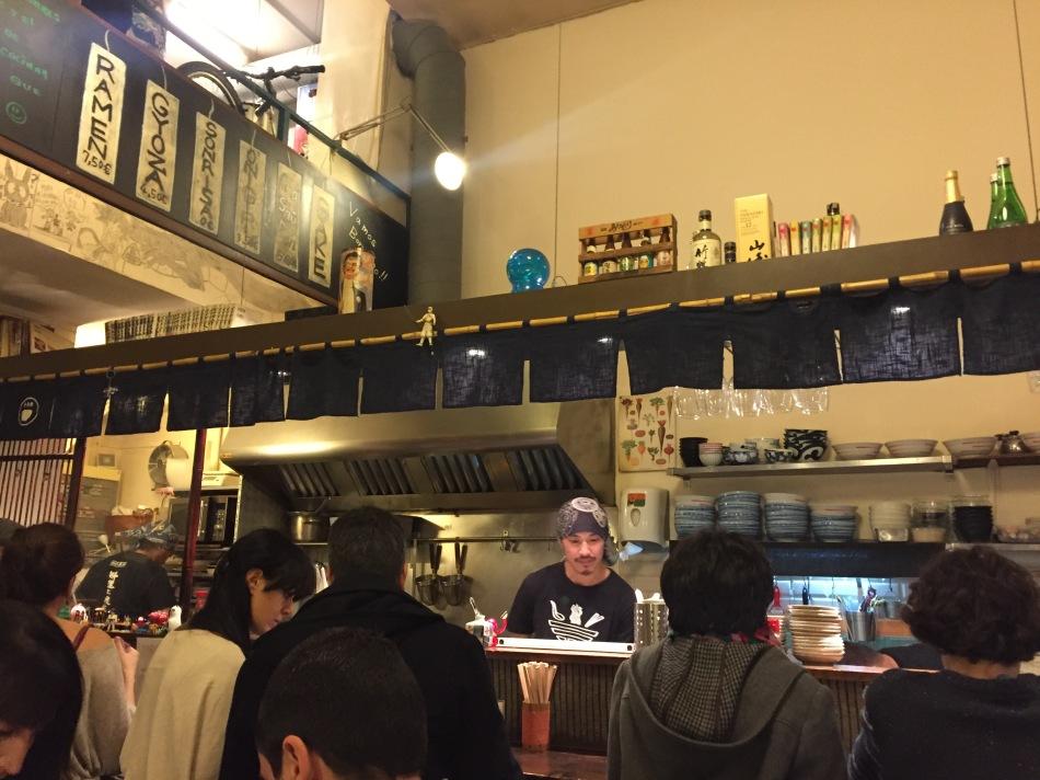 carta y menu de ramen-ya hiro