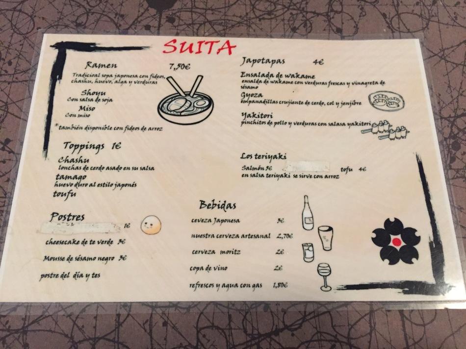 carta restaurante ramen suita