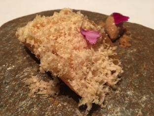 restaurante abac Taco de maíz y foie gras con helado de mole