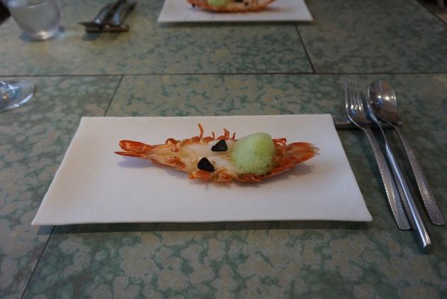 disfrutar restaurante Langostino al Ajillo