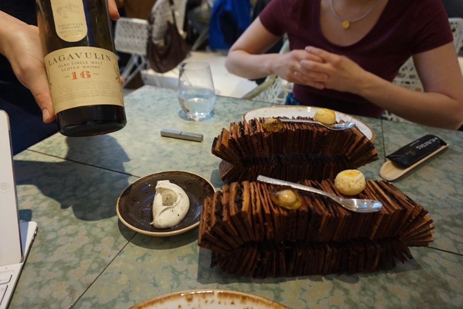 disfrutar restaurante Version de la tarta al Whisky