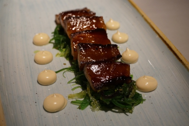papada de cerdo ibérico L'EGGS Restaurant del Chef Paco Pérez