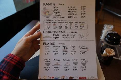 Carta Menu y Platos Kawamura Restaurante