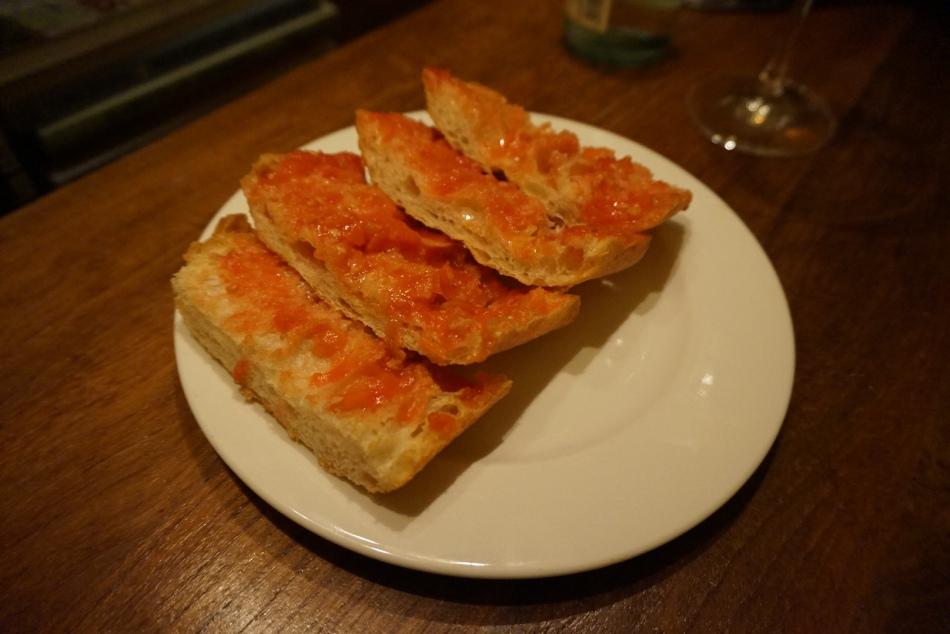 Ajoblanco Restaurante Pan con Tomate
