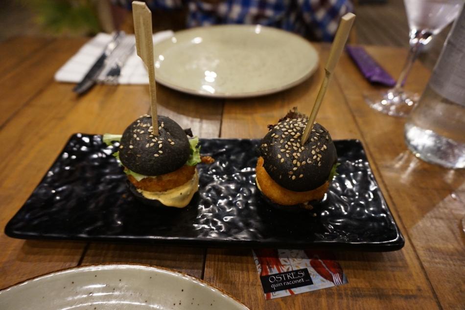 Ostres Quin Raconet Mini hamburguesa de Bou de Mar