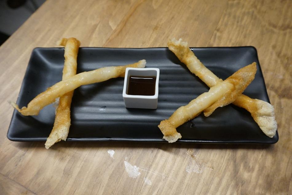Ichikoro Ramen Bricks de Gambas con salsa dulce y vinagre