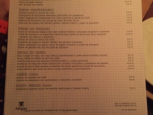 carta y platos de sensi mezzanine