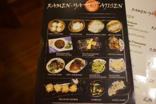 Menu Platos de Ramen-Ya Ajisen
