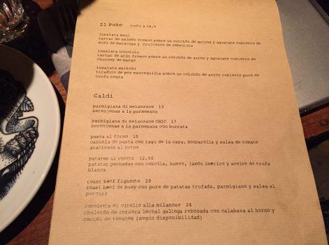Carta y Platos Iluzione Restaurante