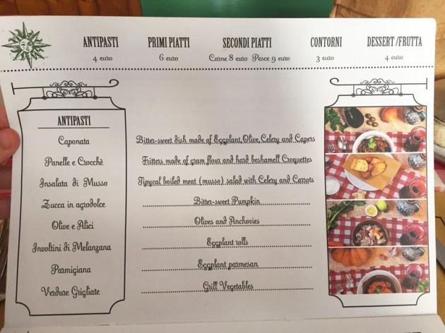 osteria lo bianco menu
